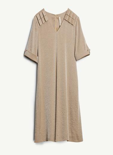 Yargıcı Kadın V Yakalı Elbise 0KKEL7024X013 Camel
